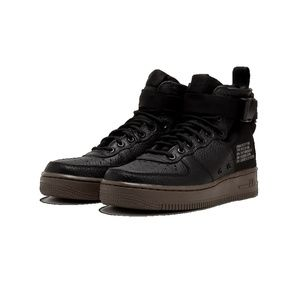 Wmns Nike SF AF1 Mid Air Force 1 Black Dark Hazel